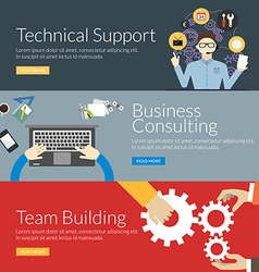 Flat design concept for technical support business vector image vector image