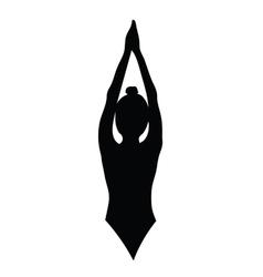 girl beauty black silhouette vector image vector image