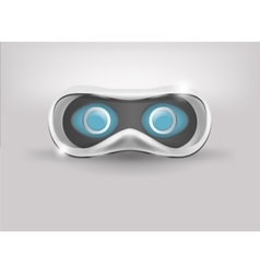 Glasses for virtual reality in 3D Front view vector image vector image