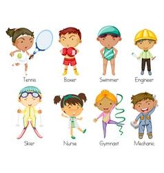 sports kids vector image