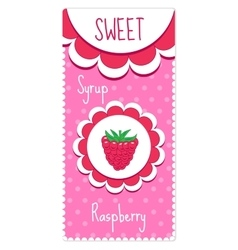 Sweet fruit labels for drinks syrup jam vector image vector image