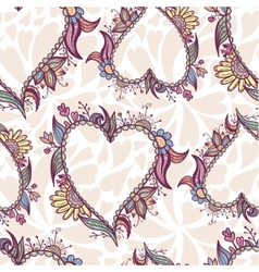 Blossoming Heart pattern vector image