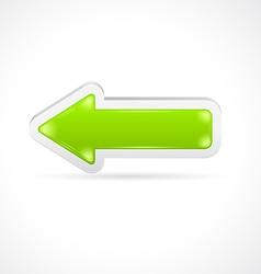 Color glass arrow icon vector image vector image