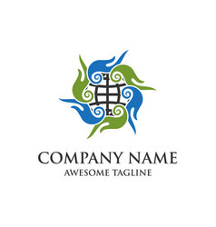 hand care logo vector image vector image