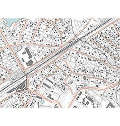 Imaginary plan a residential area of private vector image vector image