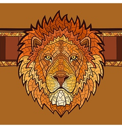 Lion head with ethnic ornament vector image vector image