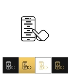 Mobile app or smartphone application icon vector