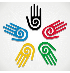 Olympics Games 2012 hands vector image vector image
