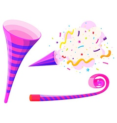 Party horn and musical straw vector image