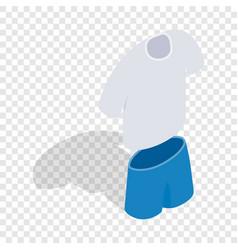 tennis man uniform isometric icon vector image vector image