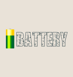 cylinder battery vector image