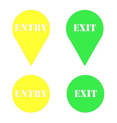 plate exit plate entrance vector image vector image