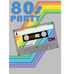 Retro Party Poster vector image