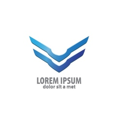 3d abstract wing flying logo for company vector image vector image