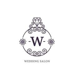 Elegant wedding monogram vector image