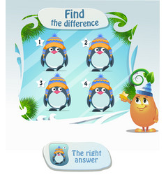 find he difference penguin 4 vector image