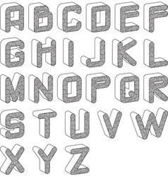 funky alphabet vector image vector image