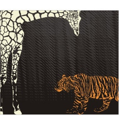 Inverse tiger and giraffe camouflage vector image vector image