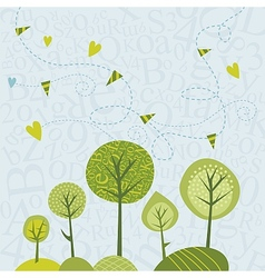 Spring Trees Background vector image vector image