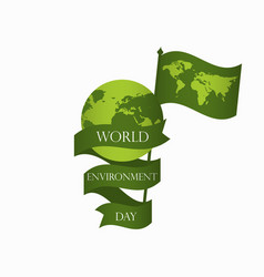 world environment day 5th june planet earth vector image vector image