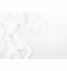 Abstract grey and white technology geometric vector