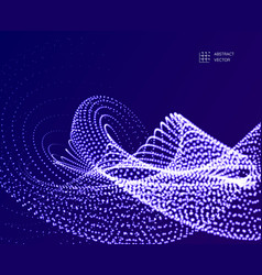 abstract wavy particle background made of vector image