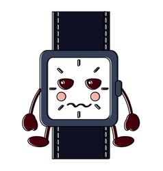 angry watch kawaii icon image vector image