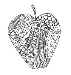 apple zen tangle vector image