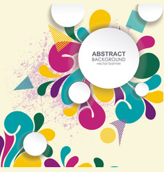 background with abstract shape vector image