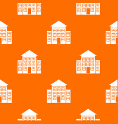 Bank building pattern seamless vector