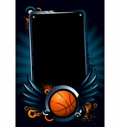 basketball banner vector image