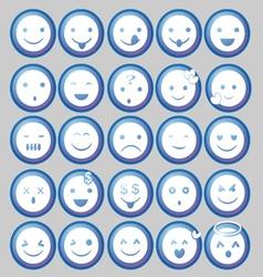 Blue Circle Emoticon vector