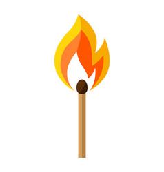 Burning match firefighting item vector