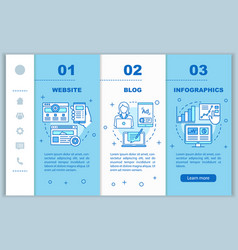 Channels for seo onboarding mobile web pages vector