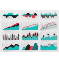 Charts elements for business infographics vector