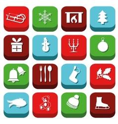 Christmas icons vector