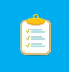clipboard icon with green checkmarks vector image