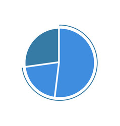 Colorful business pie chart for your documents vector
