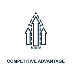 Competitive advantage icon outline style thin vector