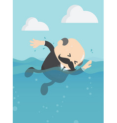 concept businessman showing swimming vector image