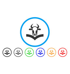 Cow handbook rounded icon vector