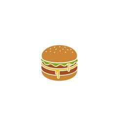 creative hamburger logo design symbol vector image