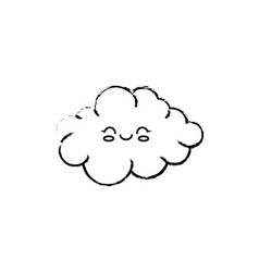 Cute cloud cartoon vector