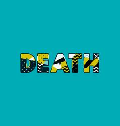 Death concept word art vector
