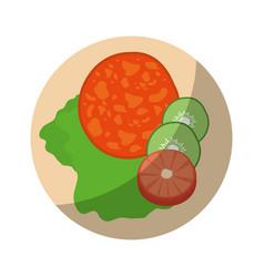 Delicious and healthy salad vector