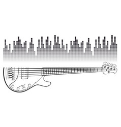 electric guitar with sound scale vector image