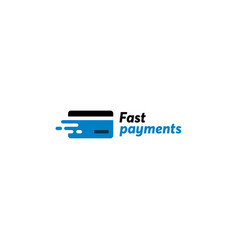 Fast payment card logo vector