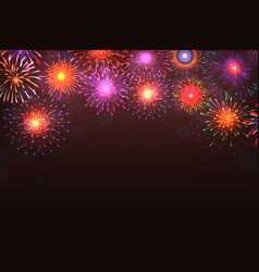 fireworks background colorful explosion with vector image
