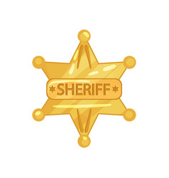 flat design of sheriff s vector image