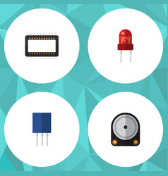 flat icon appliance set of mainframe receptacle vector image